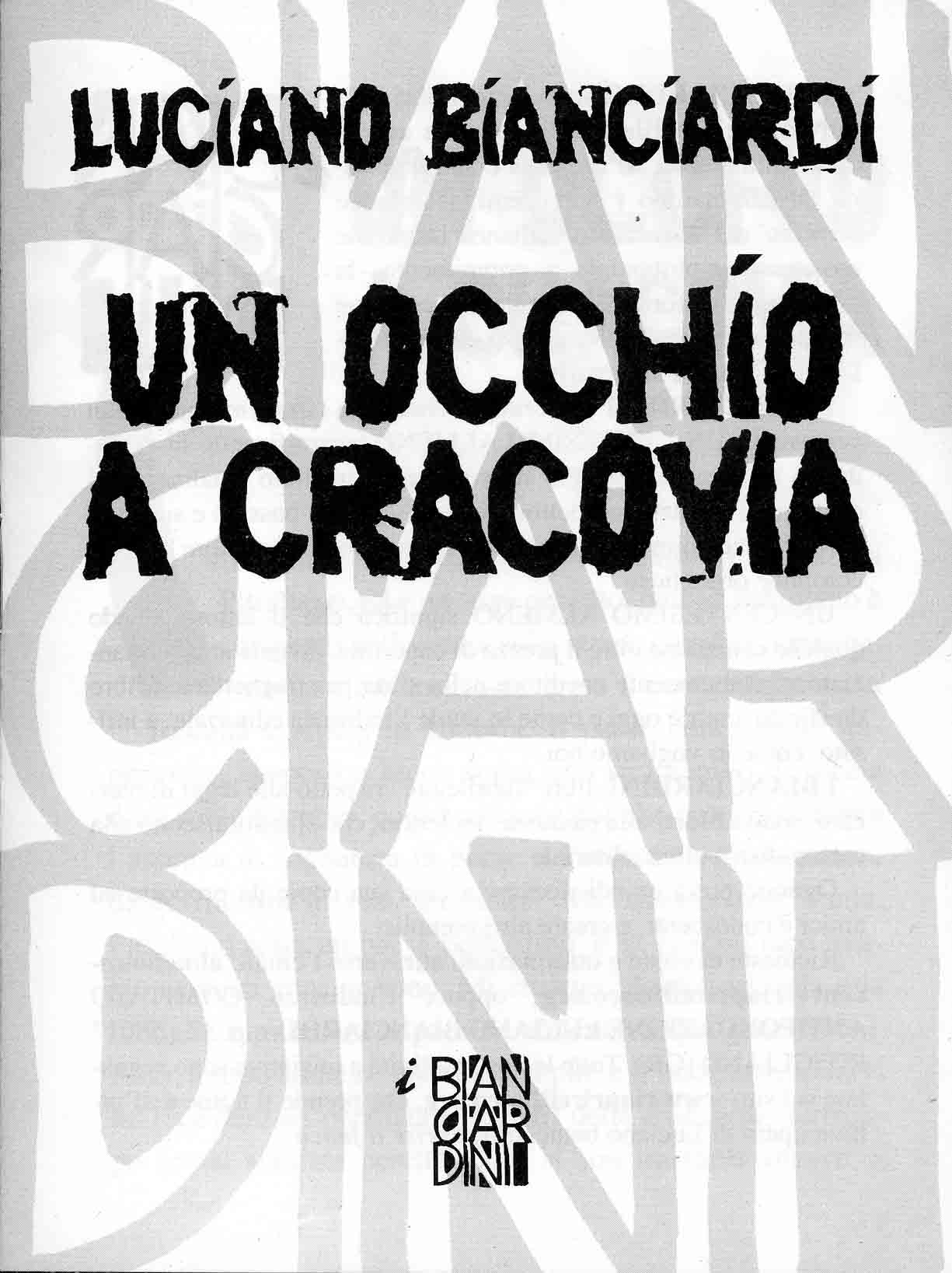 Un occhio a Cracovia Book Cover