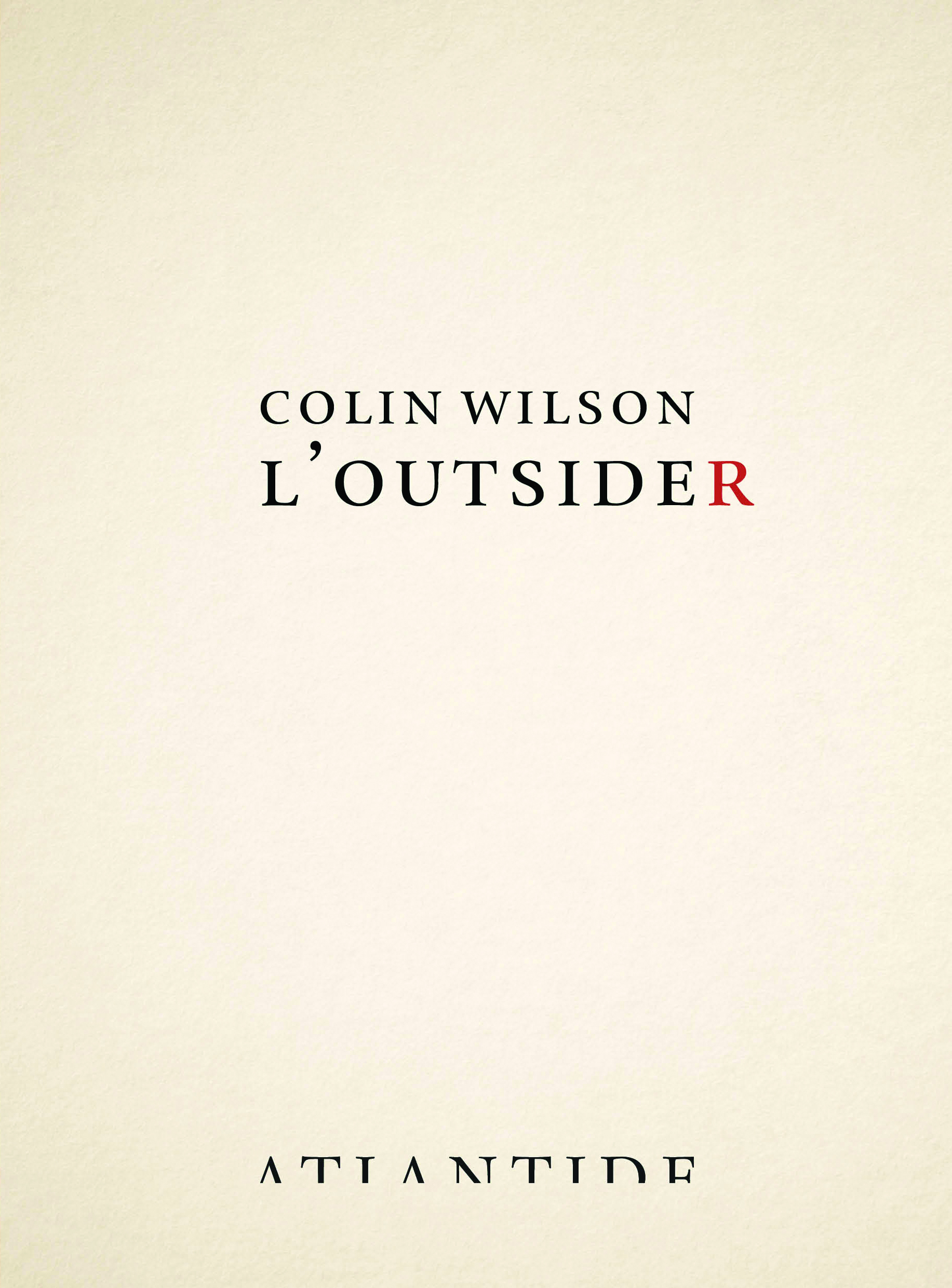 L'Outsider Book Cover